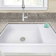 Farmhouse Kitchen Sink With Drainboard Nantucket Sinks Cape 36 X 20 Farmhouse Apron Sink With Built In