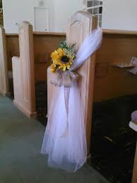 pew bows for wedding sunflower pew bow perhaps without the flowers forget what i