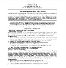 Correctional Officer Resume Examples by Sample Security Resume 11 Download Free Documents In Pdf Word