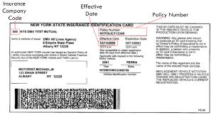 sample nys insurance id cards new york state of opportunity