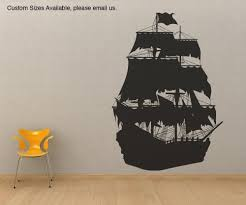 sale pirate ghost ship vinyl decal by bubbaanddoodle on etsy my