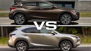 lexus suv nx 2017 price 2017 infiniti qx30 vs lexus nx youtube