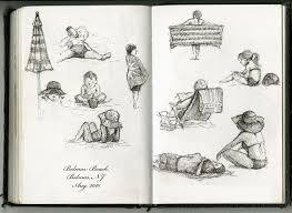 illustrations by olga beach sketches