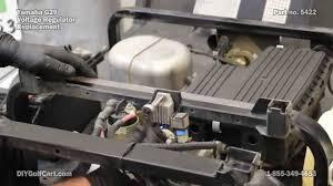 yamaha voltage regulator how to install on golf cart youtube