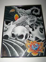 skull and fish flash by willemxsm on deviantart