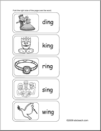 ing word family worksheets worksheets