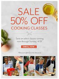 sur la table promo 50 off cooking classes at sur la table freebies2deals