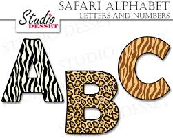 safari guide clipart alphabet cliparts safari letters and numbers abc clipart