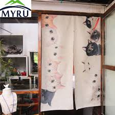 Feng Shui Curtain Colors Living Room Aliexpress Com Buy Myru Japanese Cotton Door Curtain Creative