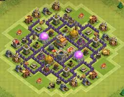 layout design th7 top 3 town hall 7 trophy base designs clash of clans bases