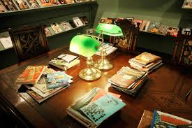 Library Table Lamps Comics In Gallery Exhibitions Drawing Words Writing Pictures