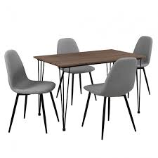 sedia sala da pranzo en casa 皰 mobili sala da pranzo grigio ottica legno sedia e