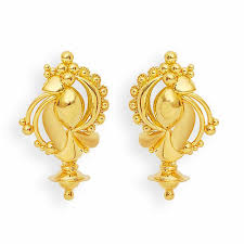 gold erring designer gold earring at rs 12000 pair soni bazar rajkot id