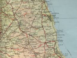 Durham England Map by Seaham Map