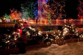 trail of lights chatfield coupon red christmas bow on an old wooden fence stock photo picture and