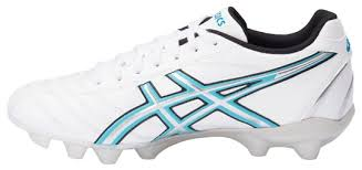 womens football boots uk asics lethal rs white carolina blue silver p565y womens