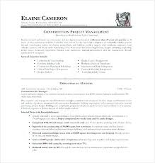 construction project manager resume sample doc template templates
