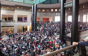 huge crowds for chinese new year celebrations at the winter garden