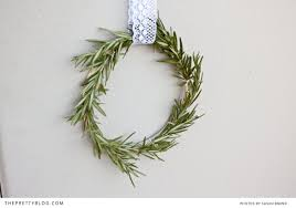 rosemary wreath diy the pretty blog