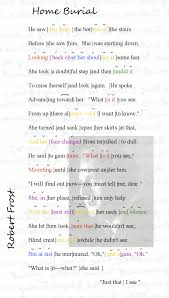 the annotated home burial u2022 lines 1 18 poemshape