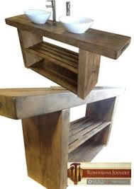 Solid Oak Bathroom Vanity Unit Vanity Unit Wash Stand Sink Basin Solid Oak Bespoke Rustic Finish