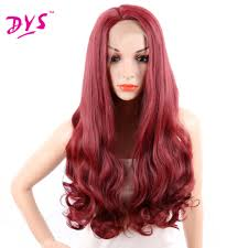 red long hairstyles promotion shop for promotional red long