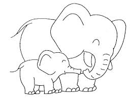 baby elephant love mother coloring elephants