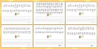 name writing worksheet write name line guide landscape