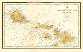 Maui Hawaii Map Lahaina Printsellers 1938 Usgs Hawaiian Islands Area Oahu And