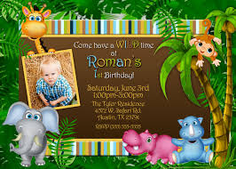 Sample Of 1st Birthday Invitation Card Safari Birthday Invitations Card Decorating Of Party