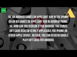 can you use itunes on android can you use an itunes gift card on an android