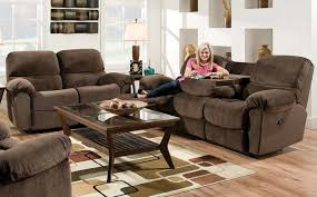 sofa brown recliner sofa eye catching brown reclining sectional