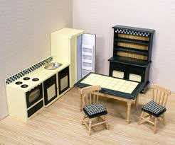kitchen dollhouse furniture wooden dollhouse furniture by and doug kitchen set