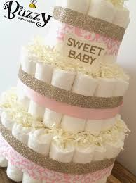 white and gold baby shower white gold and pink damask cake for baby girl shower decor