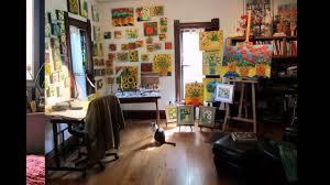 studio ideas interior vibrant home art studio interior with big painting also