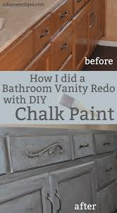Painted Vanities Bathrooms Best 25 Refinish Bathroom Vanity Ideas On Pinterest Bathroom