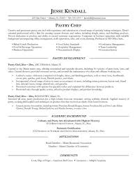 Resume Header Examples by Pastry Chef Resume 19799