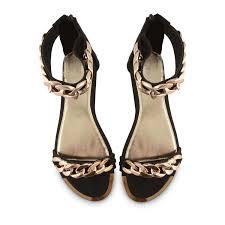 58 gold chain gladiator sandals womens ladies flat heel open toe