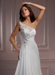 one shoulder wedding dresses chiffon one shoulder wedding dress dresscab