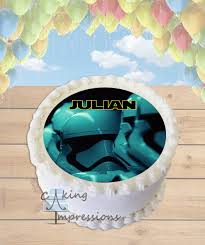 wars edible cake toppers wars the awakens order stormtroopers edible image