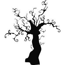 silhouettes of spooky halloween trees royalty free clipar clip