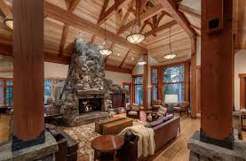 Rustic Livingroom Rustic Design Ideas Canadian Log Homes