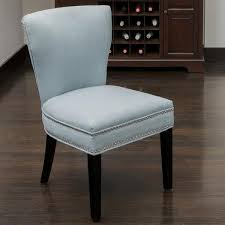 Nailhead Accent Chair Knight Home Jackie Ocean Blue Accent Dining Chair