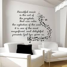 music wall decals vinyl notes decal butterfly sticker nursery