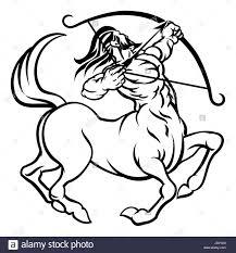 a circular sagittarius archer centaur horoscope astrology zodiac