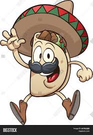 cartoon sombrero cartoon taco wearing sombrero vector u0026 photo bigstock