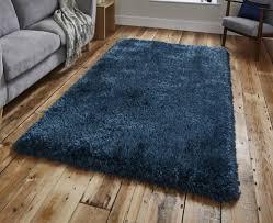 super heavyweight 8cm steel blue shag pile rug 120cm x 170cm 3 u00279