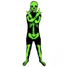 glow skeleton kids morphsuit morph costumes uk
