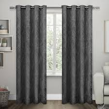 Insulated Window Curtains Twig Charcoal Insulated Blackout Grommet Top Window Curtain Eh7986
