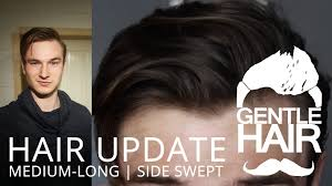 front view of side swept hairstyles hair update medium long mens hair styling side swept